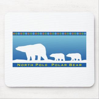 Polar Bear on Ice Mousepads