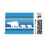 Polar Bear on Ice Postage Stamps