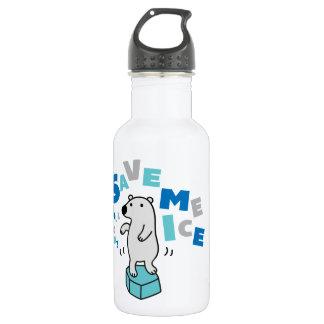 Polar Bear on Ice Stainless Steel Water Bottle