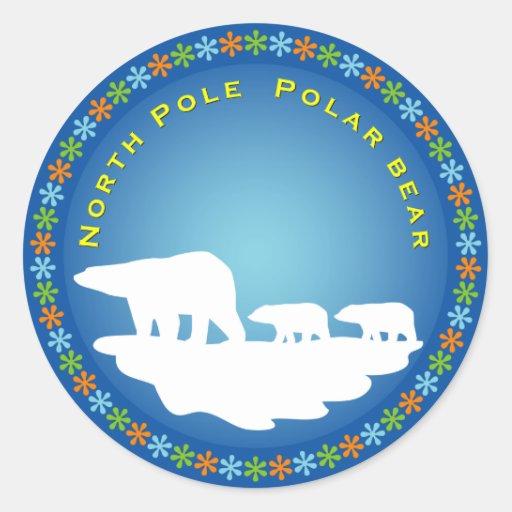 Polar Bear on Ice Sticker