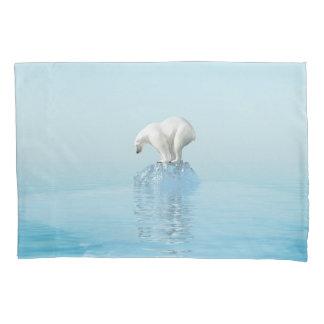 Polar Bear on Iceberg (1 side) Pillowcase