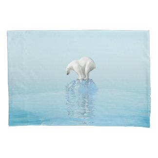 Polar Bear on Iceberg (2 sides) Pillowcase