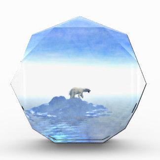Polar Bear On Iceberg Acrylic Award