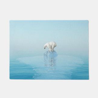 Polar Bear on Iceberg Doormat