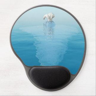 Polar Bear on Iceberg Gel Mouse Pad