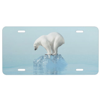 Polar Bear on Iceberg License Plate
