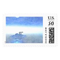 Polar Bear On Iceberg Postage