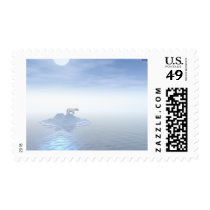 Polar Bear On Iceberg Postage