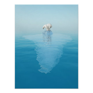 Polar Bear on Iceberg Poster