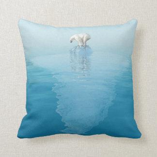 Polar Bear on Iceberg Throw Pillow