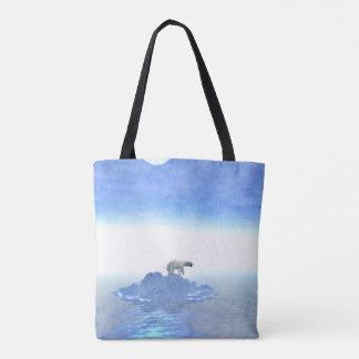 Polar Bear On Iceberg Tote Bag