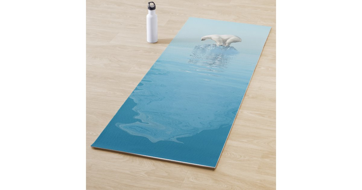 Polar Bear On Iceberg Yoga Mat Zazzle Com