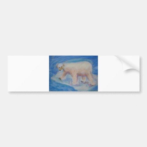 Polar bear on shrinking ice bumper sticker