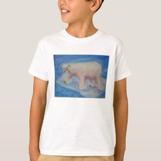 Polar bear on shrinking ice T-Shirt