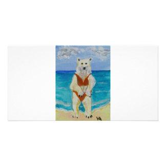 Polar Bear on Vacation Card