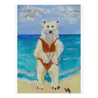Polar Bear on Vacation Flyer