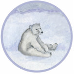 "Polar Bear Ornament<br><div class=""desc"">Sleepy eyed polar bear relaxes in the snow.</div>"