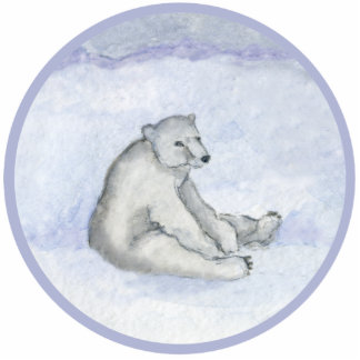 Polar Bear Ornament Acrylic Cut Out