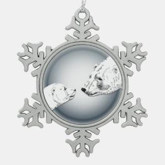 Polar Bear Ornament Holiday Bear Art Decorations