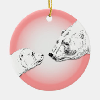Polar Bear Ornament Mother Baby Personalized Gift
