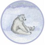 Polar Bear Ornament Photo Sculpture Ornament