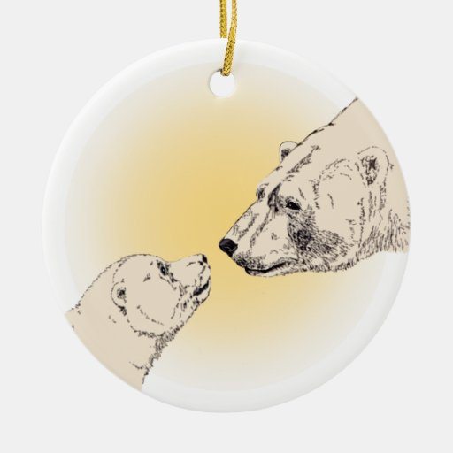 Polar Bear Ornament Polar Bear Art Decoration Keep