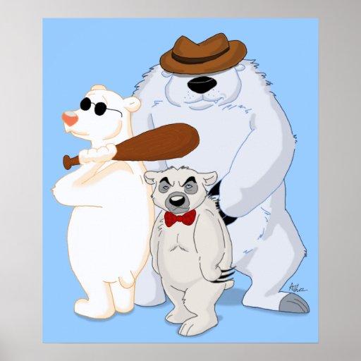 Polar Bear Pals Poster Print
