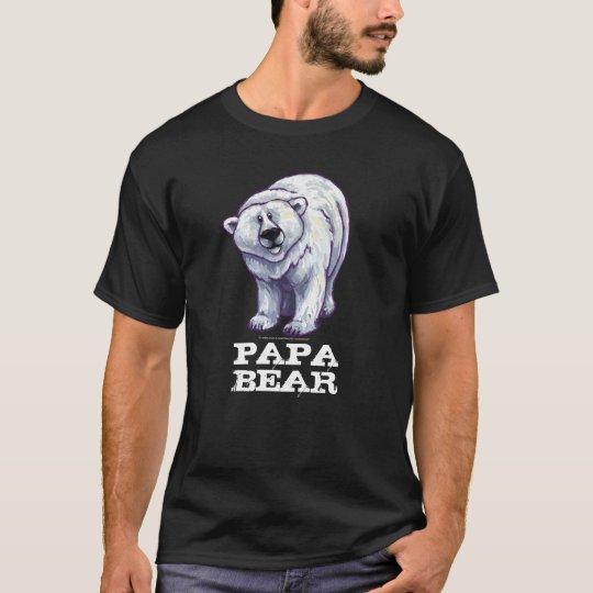 Polar Bear, Papa Bear Men's Dark T-Shirt
