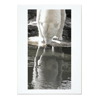 Polar Bear, Part Black and White (7) Card