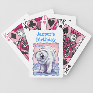 Polar Bear Party Center Bicycle Playing Cards