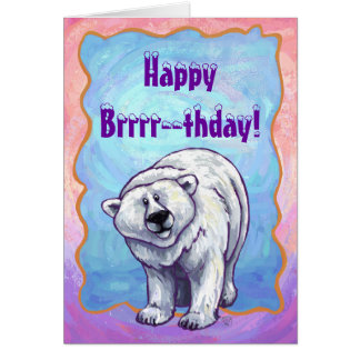 Polar Bear Party Center Card