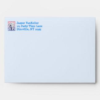 Polar Bear Party Center Envelope