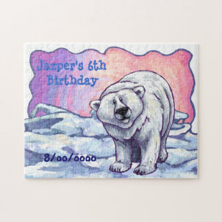 Polar Bear Party Center Jigsaw Puzzle