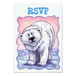 Polar Bear Party Center RSVP Card