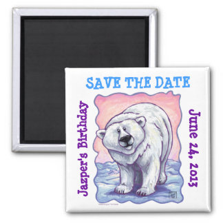 Polar Bear Party Center Save the Date Magnet