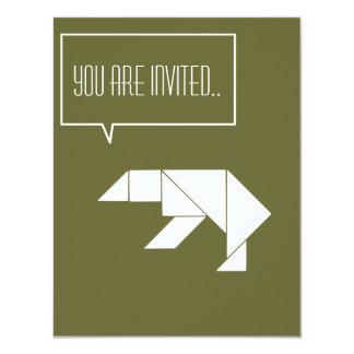 polar bear party like animals invitation