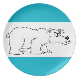 Polar bear party plates