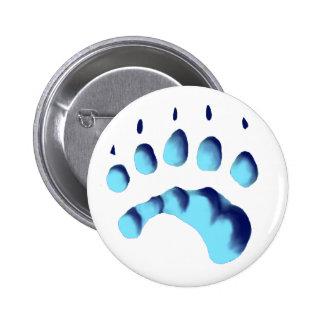 Polar Bear Paw Print 2 Inch Round Button