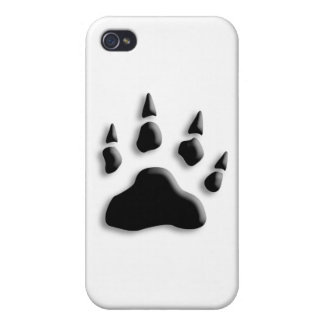 Polar Bear Paw Print Case For iPhone 4