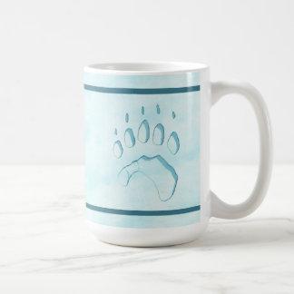 Polar Bear Paw Print Coffee Mug