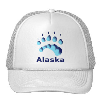 Polar Bear Paw Print Mesh Hat
