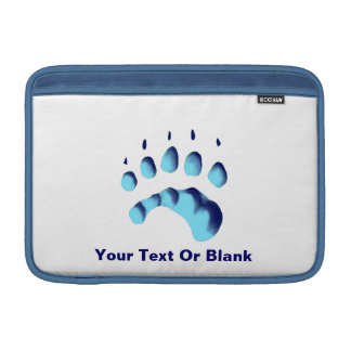 Polar Bear Paw Print MacBook Sleeve