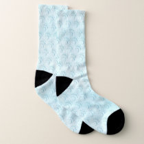 Polar Bear Paw Print Socks