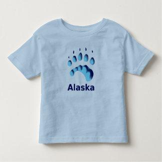 Polar Bear Paw Print T Shirt