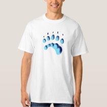 Polar Bear Paw Print T-Shirt