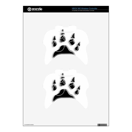 polar bear paw print xbox 360 controller decal