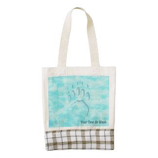 Polar Bear Paw Print Zazzle HEART Tote Bag