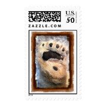 Polar Bear Paw stamp