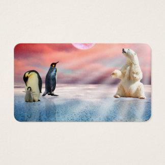 Polar Bear Penguin Business Card