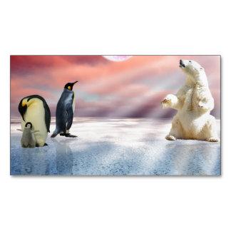 Polar Bear Penguin Business Card Magnet
